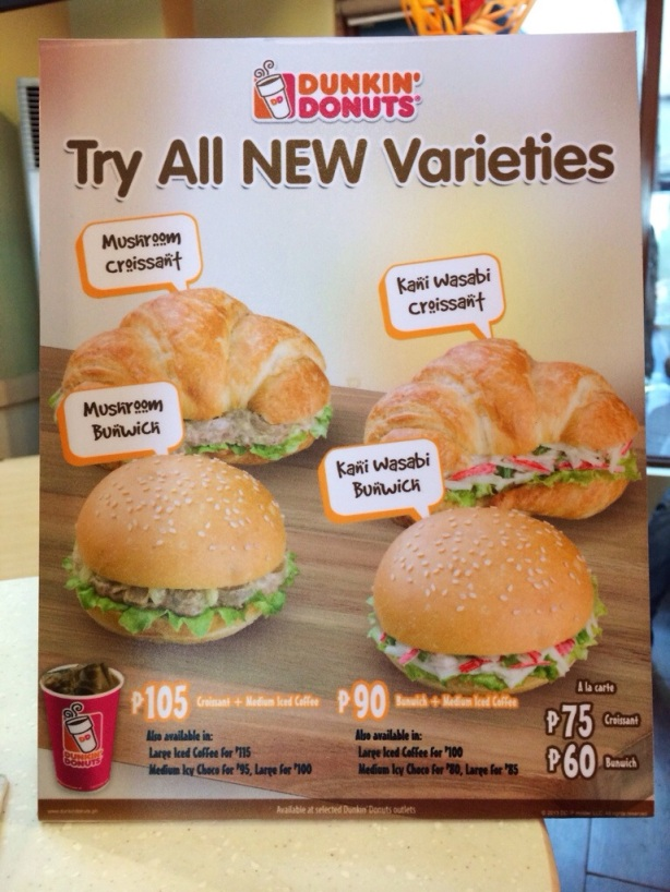 Dunkin' Donuts, Croissant, Bunwich, New Varieties
