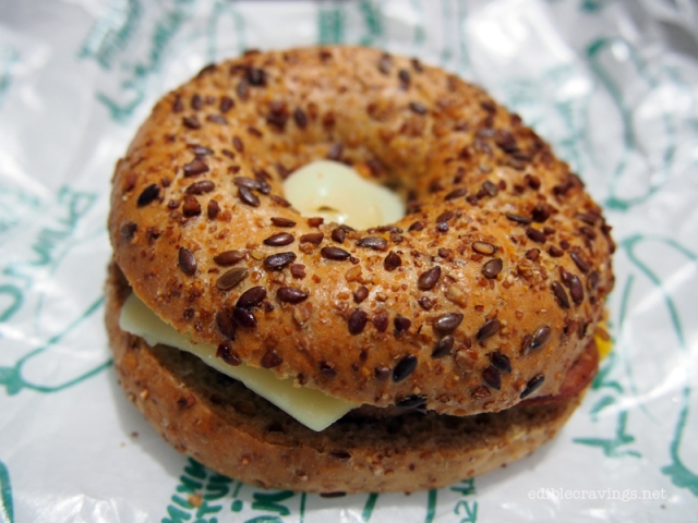 Dunkin' Donuts Hungarian Sausage Egg & Cheese Bagel (P75)