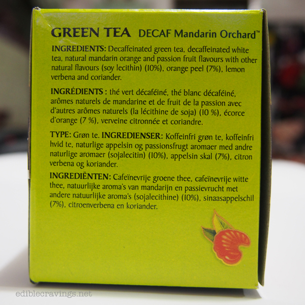 Celestial Seasonings, Decaf Mandarin Orange Green Tea, Ingredients