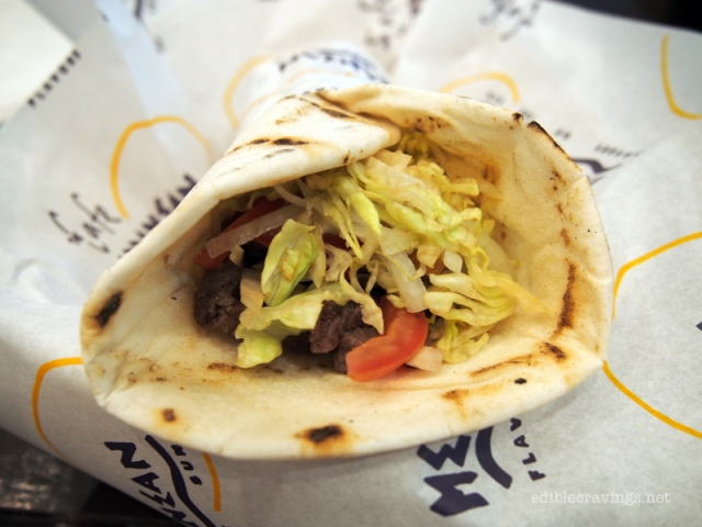 The Cafe Mediterranean Grilled Beef Gyro