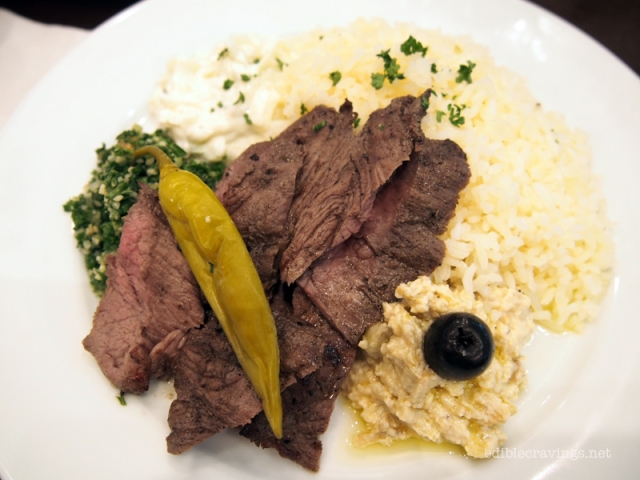 The Cafe Mediterranean Grilled Beef Gyro Plate