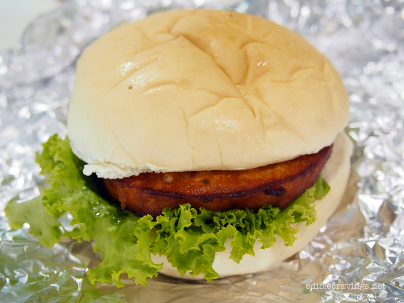 Chuck's Grub's Royal Salmon Burger