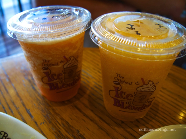 The Coffee Bean & Tea Leaf Melon Mint Fru-Tea and Pomelo Fru-Tea