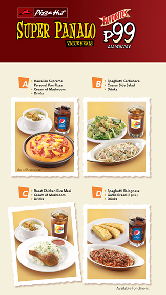Pizza Hut Super Panalo Value Meals Favorites